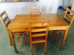 IKEA JOKKMOKK table and 4 chairs for sale Crawley Nedlands Area Preview