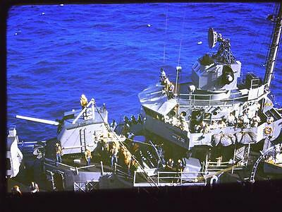 1962 Destroyer Ship Lot of 3 Kodachrome 35MM Slides Military Vietnam War Navy