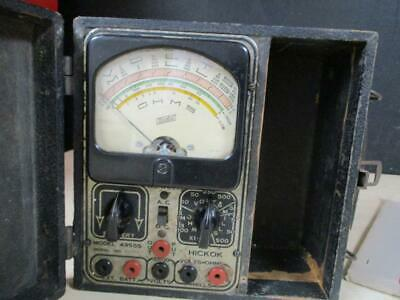 Vintage 1930s Hickok Volt-ohm-milliampre-meter 4955-s Orig Box Instructions