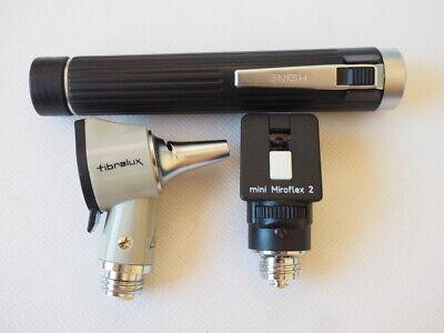 Heine Fibralux Mini Miroflex 2 Otoscope Works Tested