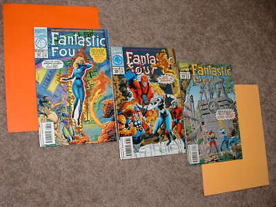1994 Lot of 3 Fantastic Four 387 388 389 Avengers Foil Cut Out NM Free Shipping