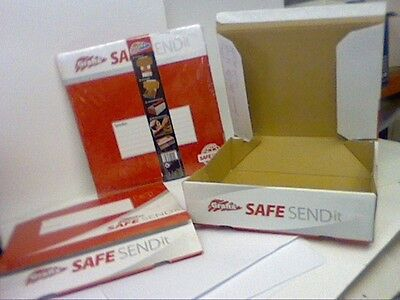 10 xCARD POSTAGE BOXES SELF SEAL 295x225x78mm FLAT PACK-POSTAL BOXES-see picture