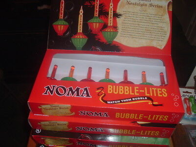 4 FULL SETS NOMA VINTAGE REPRO CHRISTMAS BUBBLE LIGHTS 7 bulb NEW IN BOX