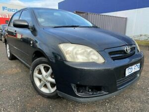 2005 Toyota Corolla ZZE122R Ascent Seca Black 4 Speed Automatic Hatchback Hoppers Crossing Wyndham Area Preview
