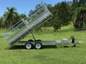 14FT X 7FT Flat Top Galvanized Hyd Tipping Trailer With Ramps Molendinar Gold Coast City Preview