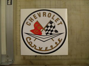 Vintage-Corvette-white-sticker-9-diameter