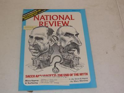 NATIONAL REVIEW MAGAZINE / AUGUST 19 1977/ SACCO & VANZETTI THE END OF THE MYTH ()