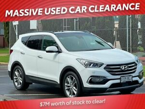 2016 Hyundai Santa Fe DM3 MY16 Highlander White 6 Speed Sports Automatic Wagon Prospect Prospect Area Preview