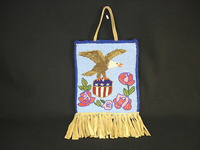 A Plateau Beaded Bag, Native American Indian, Circa: 1925