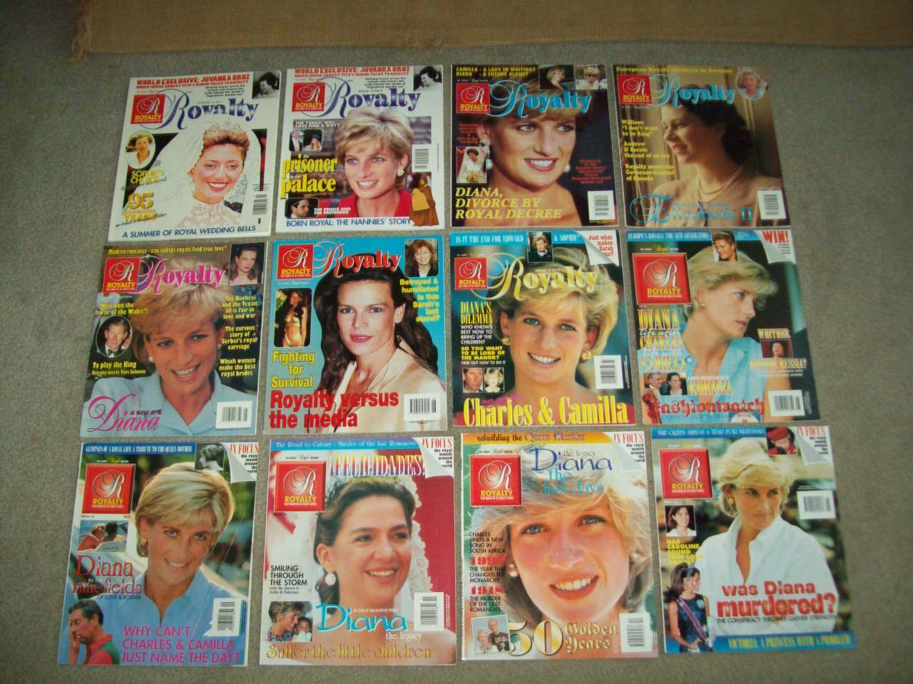 12 ROYALTY MAGS Vol 14 No.1-9 11-12+1 PRINCESS DIANA royal wedding PRINCE king