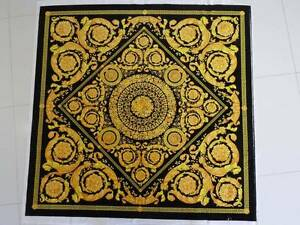 Versace black and gold velvet fabric panel 140 x 140cm Singleton Heights Singleton Area Preview