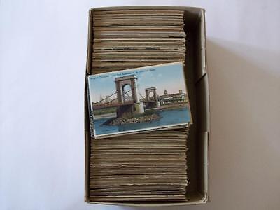 800+ France (A) old postcards unused/used