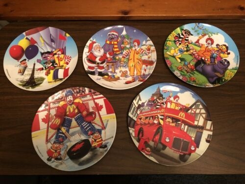 McDonalds Collector Plates, 2000, Lot of 5, Mint Condition