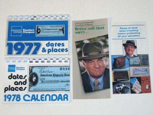 Vintage 1977 & 1978 AMERICAN EXPRESS Calendars & KARL MALDEN 1983-84 Pamphlets!