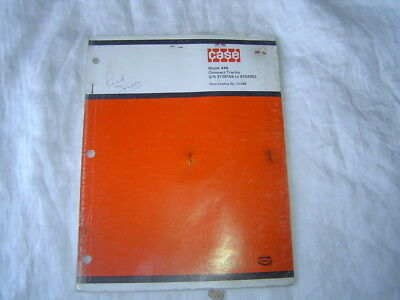 Case 446 Compact Tractor Parts Catalog Book Manual