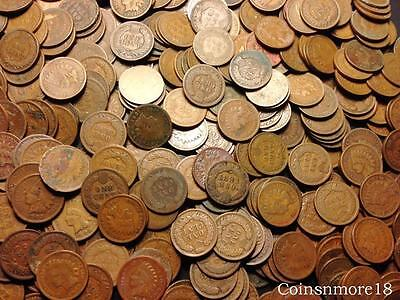 Indian Head Cent Roll * 50 Coin Lot Mixed Date Penny Rare US Coin 1c Collection