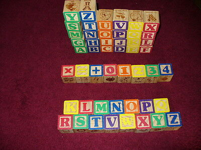 Wooden Alphabet Set COMPLETE A-Z educational toy+ extras