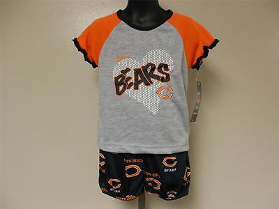�r Mädchen Kleinkinder 3T NFL Team Bekleidung 2 Stück Pajama (Bekleidung Für Kleinkinder)