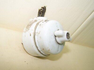 Old Porcelain Switch Exposed Rotary Switch Ap, Art Deco Loft Bauhaus, Decor