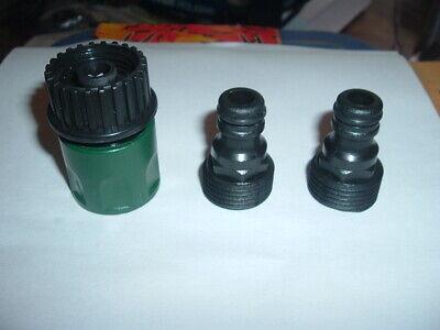 Orbit 3 piece Hose Quick Connect Set (2) Male (1) Female Faucet Adapter 56458-15