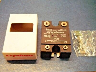 Crydom D2425 Solid State Relay Control 4-32vdc Load 24-280vac Panel Mount