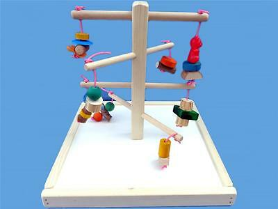 Wood play gym-with base,chew toys-bird gym-bird toy