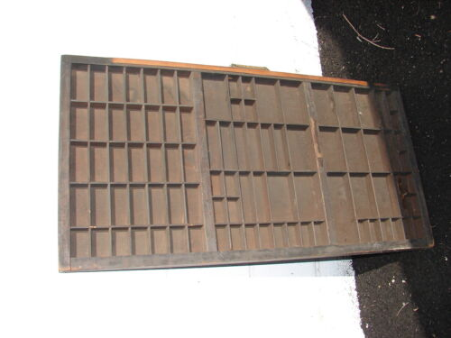 Vintage Wooden Printers Type Drawer Tray Wall Display Rack Letterpress Old - # 2
