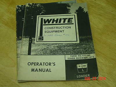 White Construction 4-30l Loader Parts And Operators Manuals Oem Lqqk