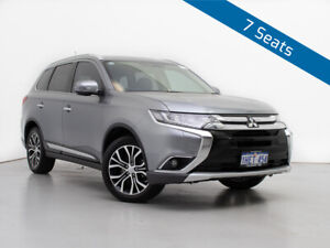 2016 Mitsubishi Outlander ZK MY16 Exceed (4x4) Silver Continuous Variable Wagon