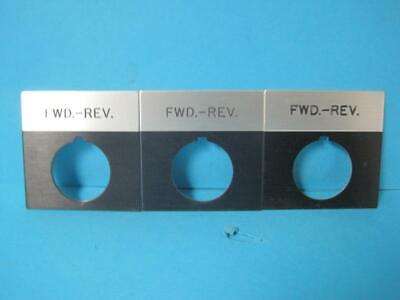 Lot Of 3 New Siemens Fwd Rev Forward Reverse Taglabel For Switch 2.5 X 2.5