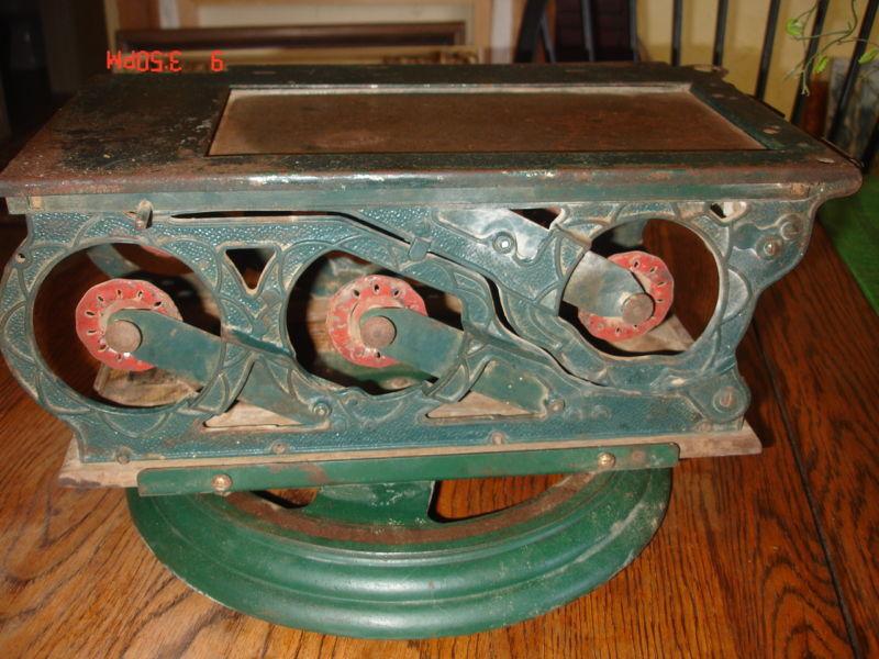 ANTIQUE 1900s UARCO CAST IRON CASH REGISTER RECEIPT MACHINE