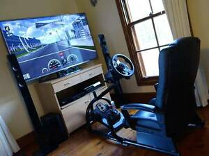 ULTIMATE 3D Racing Driving Gaming Simulator Complete Cockpit Tea Gardens Great Lakes Area Preview
