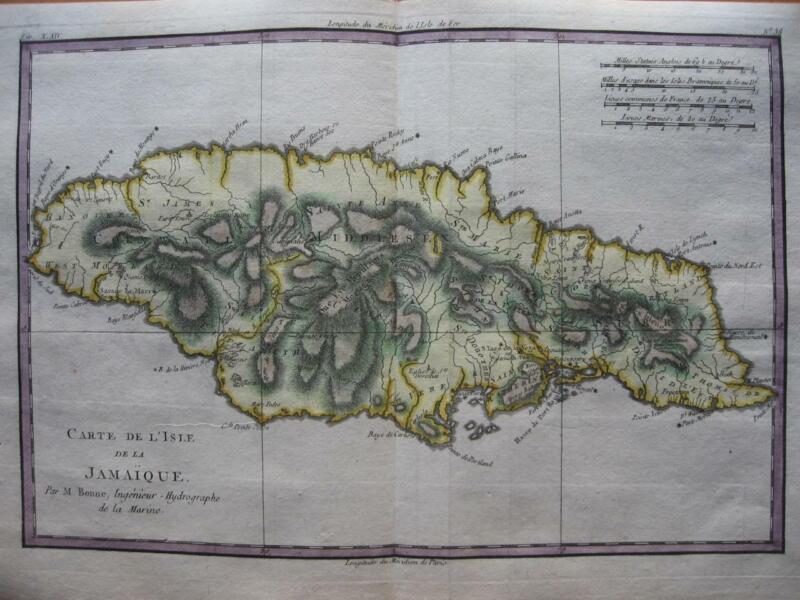 1780 - BONNE - Map  JAMAICA