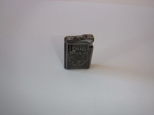 Vintage Colibri Lighter Filigree Scroll Design Silvertone Made In Japan
