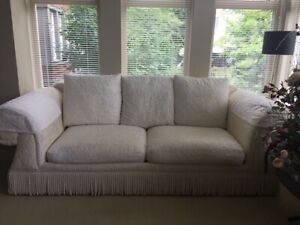 Set of sofa love seat three coffee tables