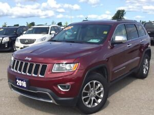 2016 Jeep Grand Cherokee Limited LEATHER! TOUCH SCREEN! 4 WHE...