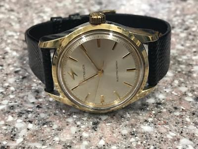 CLASSIC 1960s SS/GOLD CAPPED WITTNAUER  ELECTRIC-CHRON WATCH.