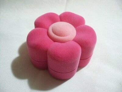 Flower Shape Pink Velvet Jewelry Gift Box Will Fit Necklace Or Earring Or Ring - Pink Gift Box