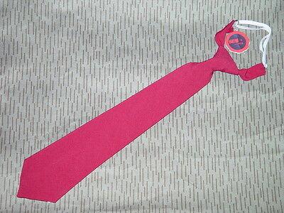 Original Binder Krawatte Schlips DDR Kampfgruppe / Feuerwehr rot, ungetragen