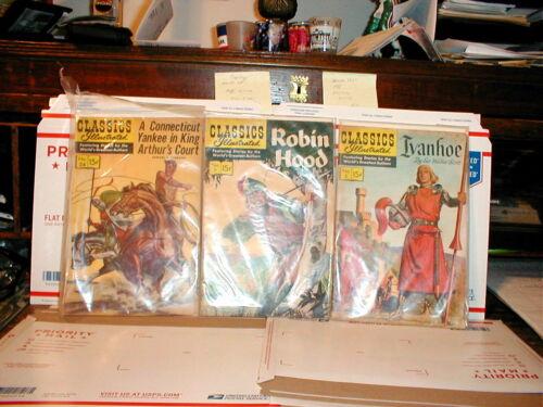 Lot of 3 Classic Illustrated comic  books