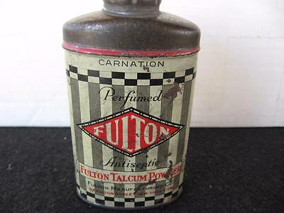 Vintage Fulton Talcum Powder Tin