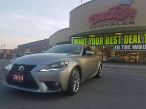 2014 Lexus IS 250 P-ROOF LEATHER, REAR CAM PWR SEATS AND MORE