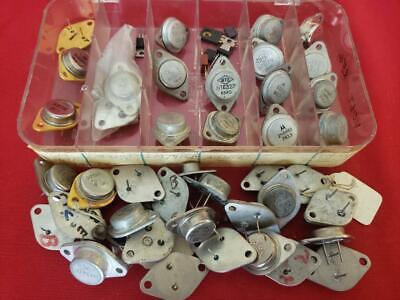 Lot 47 Used Power Transistor Rca Motorola Ge Solid State Semiconductor