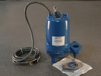 Goulds Ws0537bhf Model 3887bhf Submersible Sewage Pump 575 Volts