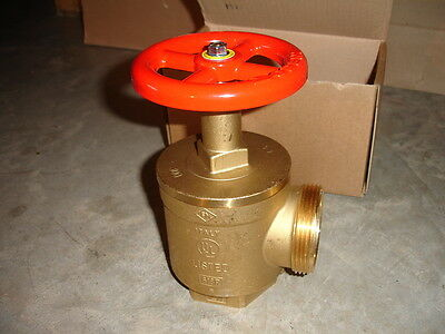 Croker A56y006 Fire Hose Angle Control Valve 2 12 Nst X 2 12 Npt Rated 300lb