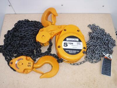 New Cf050-15 Harrington Chain Fall Hoist 5 Ton 15 Lift Fast Ship Manual Hand