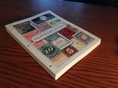 US TELEGRAPH STAMP ALBUM COLLECTION PAGES BOB REVENUE FRANK DEEP BACK OF BOOK