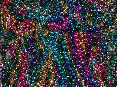 200 MULTI-COLOR MARDI GRAS BEADS NECKLACES-PARTY FAVORS-- FREE SHIPPING!](Wholesale Mardi Gras Beads)