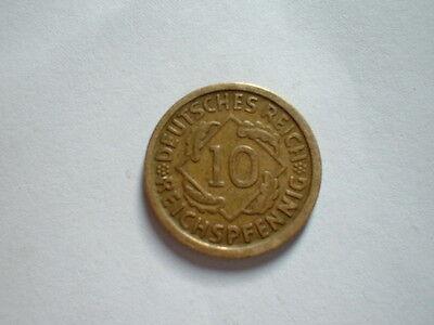 10 Reichspfennig Deutsches Reich 1924 D  Kupfer