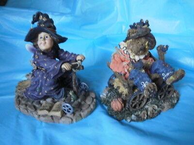 Boyds Bears Halloween Resin Pieces (2)